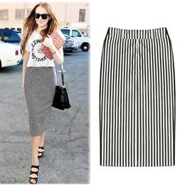 Discount Stripe Midi Pencil Skirt   2017 Stripe Midi Pencil Skirt ...