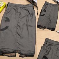 Cotton,Polyester Knee-Length XT26541 Wholesale-New Fashion 2015 Spring Summer Vintage Women Skirts Casual saia rodada cintura alta Veil Cotton ladies skirts With Pocket