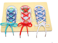 Wholesale New Arrival wooden toys cm high quality children learn tie shoes learning amp education toys P7