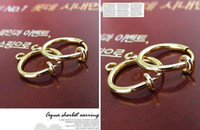 Wholesale Gold Plated Spring Ring Earring Clips Findings MM Dia Earring Loop Findings No Need Ear Holes