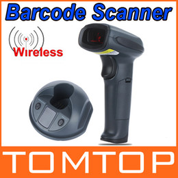 Wholesale-Bi-directional Handheld Laser Scanner USB Wireless Barcode Scanner Bar Code Reader 433MHz Top Quality