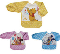 baby bibs apparel - Baby bib gt apparel with mouse or bear pattern gt baby girls and boys gt Waterproof feeding smock vesture