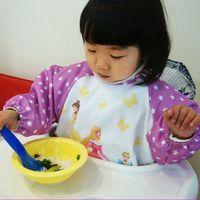 Wholesale X New Cute Baby Todder kids apron Children Waterproof Long Sleeve Art Smock Bib Apron for baby self feeding drop shipping