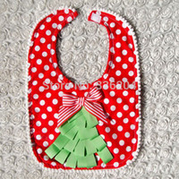 Wholesale Embroidered Towel Cloth Christmas Bib Cotton Towel Baby and Children Saliva Towel Baby Bibs
