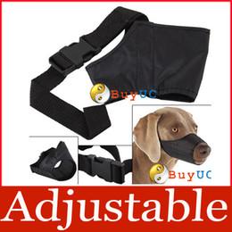 Wholesale Adjustable Safety Pet Dog Mouth Set Nylon Muzzle Stop Chewing Bark Bite Size L