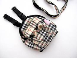Wholesale grid Pet Dog Cat Self Carry Bag pet Backpack Carrier hot pink dog s outdoor pack bag dog travel snake bag
