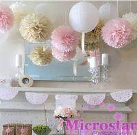 paper pom poms - inch cm Tissue Paper Pom Poms artificial Flower Balls Party Baby Shower Nursery Wedding Decoration