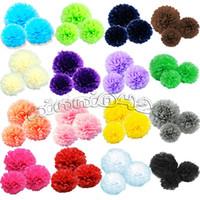Wholesale mix size quot quot quot Tissue Paper Pom Poms flower colors wedding Birthday Parties Baby