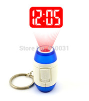 Projection LED Digital Wholesale-LED PROJECTION CLOCK KEY FINDER GADGET LASER POINTER POINT BEAM RING HOLDER LIGHT UP SHOW CEILING TIME GLOW IN DARK 007 NEON