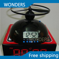With Backlight annoying alarm - Novelty Flying Alarm Clock Crazy Annoying Loud Helicopter Alarm Clock Lazy Alarm Clock UFO Table Alarm Clock