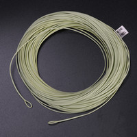 Wholesale WF7F moss green WITH WELDED LOOP Fishing Line Weight Forward FLOATING FT WT Fly Line