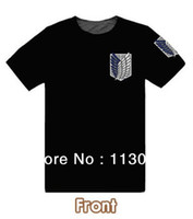 Short Sleeve t-shirts no logo - shingeki no kyojin Attack on Titan t shirt Survey Legion T shirt cosplay Blue brown color LOGO cotton
