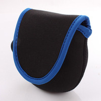 Wholesale pieces protective fly fishing reel pouch covers fishing neoprene fly reel bag