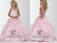 Reference Images Organza Spaghetti Pink Little Princess Sequin Ball Gown Flower Girl Dresses Junior Bridesmaid Dress Bridal Gown 5627