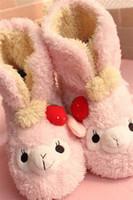 alpaca slippers - Lucky alpaca sheep little lamb plush slippers barreled slipper pink strawberry alpaca sheep