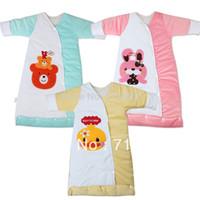 Unisex Spring/Autumn . Wholesale-baby sleeping sacks child sleeping bag velvet cotton long-sleeve sleeping bag anti-cold baby pajamas aircontioning sleepingbag
