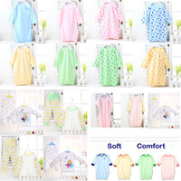Unisex Spring/Autumn . Wholesale-free shipping Children fall pajamas Baby baby long robe cotton bathrobe cotton sleeping bags play is prevention