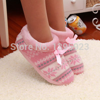 Wholesale Funny Puppy Snowflake Heart Warm Winter Slippers Skidproof Soft Soles Plush House For Women Shoes Home Indoor Room