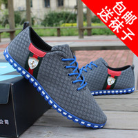 Men Chunky Heel Sequined Cloth Wholesale-British summer new male shoes sneakers men casual shoes doug tide shoes breathable mesh men's singles shoes, sandals