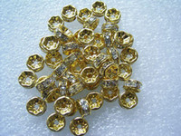 bead color wheel - 7MM Wheel shaped Clear Color Rhinestone Beads Gold Plated Crystal Spacers Jewelry Findings
