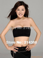 Cheap Wholesale-Sports strapless seamless corset wrapped chest bra free size black and white color optional