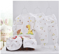 baby clothes market - Manufacture direct marketing baby underwear new born clothes sets baby cute printed sets full sleeve summer sets