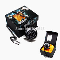 Casual acrylic collection box - Retail Harry Potter Hogwarts Magic DA Logo Pocket Watch New In Box Classic Cosplay performance for gift collection