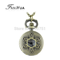 custom design jewelry - Vintage jewelry Custom Long Chain with Flower Design Openable pocket watch