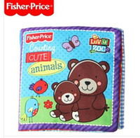fisher price toys - New baby toy classic toys fisher price book Cute Baby Animals Counting book Fisher rainforest digital stereo cloth book