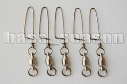 Bolas de rodamiento en Línea-Al por mayor-20 Pcs 8# Cojinete de Bolas Gira w/Costeras Complemento para pesca de Curricán de Rigging 170Lbs