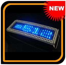 NEW BLUE FLASHLIGHT CHROME SCROLLING LED BELT BUCKLE