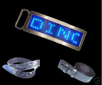 Wholesale Fashionable LED Belt Buckle Blue Red Color Adjustable Logos And Text Scroll Speed