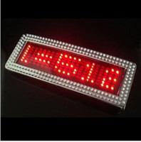 Wholesale NEW RED BLUE FLASHLIGHT LIGHT CHROME SCROLLING LED BELT BUCKLE