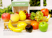 Flower artificial fruit - Artificial fruit fake fruit foam fruit home decoration soft home decor orange apple banana pineapple grape peach