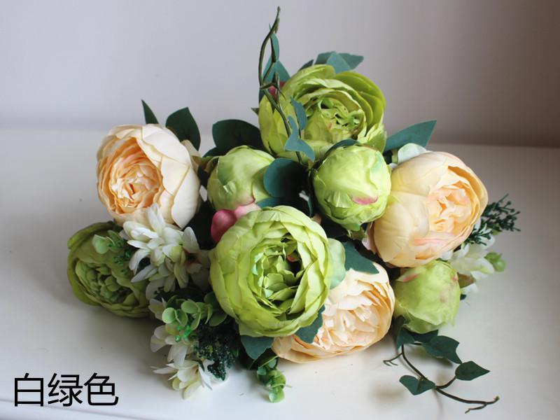 Wholesale 12 flower headsfree shipping 1 pcs beautiful cheap wholesale 12 flower headsfree shipping 1 pcs beautiful cheap artificial peony bouquets silk flowers mightylinksfo