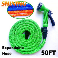 Wholesale FT Expandable Retractable Flexible Garden Car Washing Water Hose Pipe With Pattern Water Gun