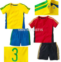 ad for sale - Sale brand ad kids sport suit color yellow and red children cloth set boys clothing suit for summer children clothing set