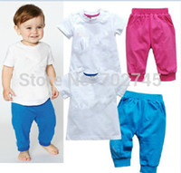 ad pieces - AD Baby suits Children Clothes Summer Sport Suits Piece Sets Years Blue Red