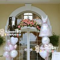 aluminium foil suppliers - New fashion wholesales quality aluminium foil Wedding gift supplier balloons bride hx61cm and bridegroom x38cm pair