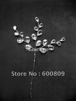 PL-010 acrylic craft supplies - X clear acrylic crystal drops on silver stem wedding favour Floral Craft Supplies Wedding decoration