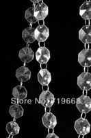 beaded chandeliers for sale - HOT SALE IN STOCK Meter FT mm octagonal acrylic beaded clear crystal garland strands for wedding decoration chandelier