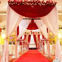arbor decorations - Hotsale customized color square canopy chuppah arbor drape with swag for wedding decoration fabric drape