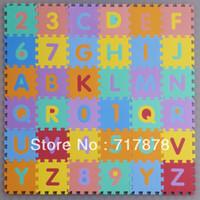 alphabet puzzle mats - Interlocking EVA Foam Alphabet Letters Numbers Floor Soft Baby Mat Puzzle Kids