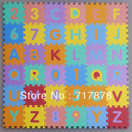 Wholesale Interlocking EVA Foam Alphabet Letters Numbers Floor Soft Baby Mat Puzzle Kids