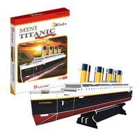 best titanic - Freeshipping MINI CubicFun D Jigsaw Puzzle TITANIC D paper model DIY puzzle Best Educational toys S3017