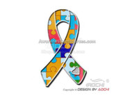 autism awareness pins - Newest Best Selling Hot Selling High Quality Autism Awareness Heart Jigsaw Puzzle Ribbon Lapel Pin