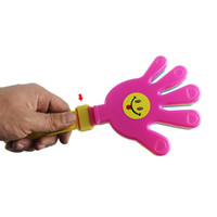 baby football toys - New fashion Plastic Hand clapper clap toy cheer leading clap for Olympic game football game Noise Maker Baby Kid Pet Toy WJ0179