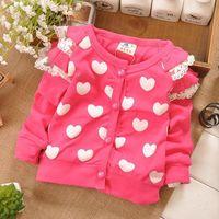 baby cardigan - Spring hot selling baby Girls sweet cotton cardigan jacket kids knitted sweater children cardigan Z070