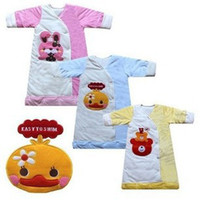 Unisex Spring/Autumn . Wholesale-baby velvet+cotton chicken sleepsacks  air conditioning sleeping bag baby pajamas