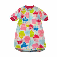 Girl Spring/Autumn . Wholesale- Christmas sale Infant Baby Girls Lovely cakes pattern Sleep bag for Autumn and Spring Soft Flecce baby Pajamas